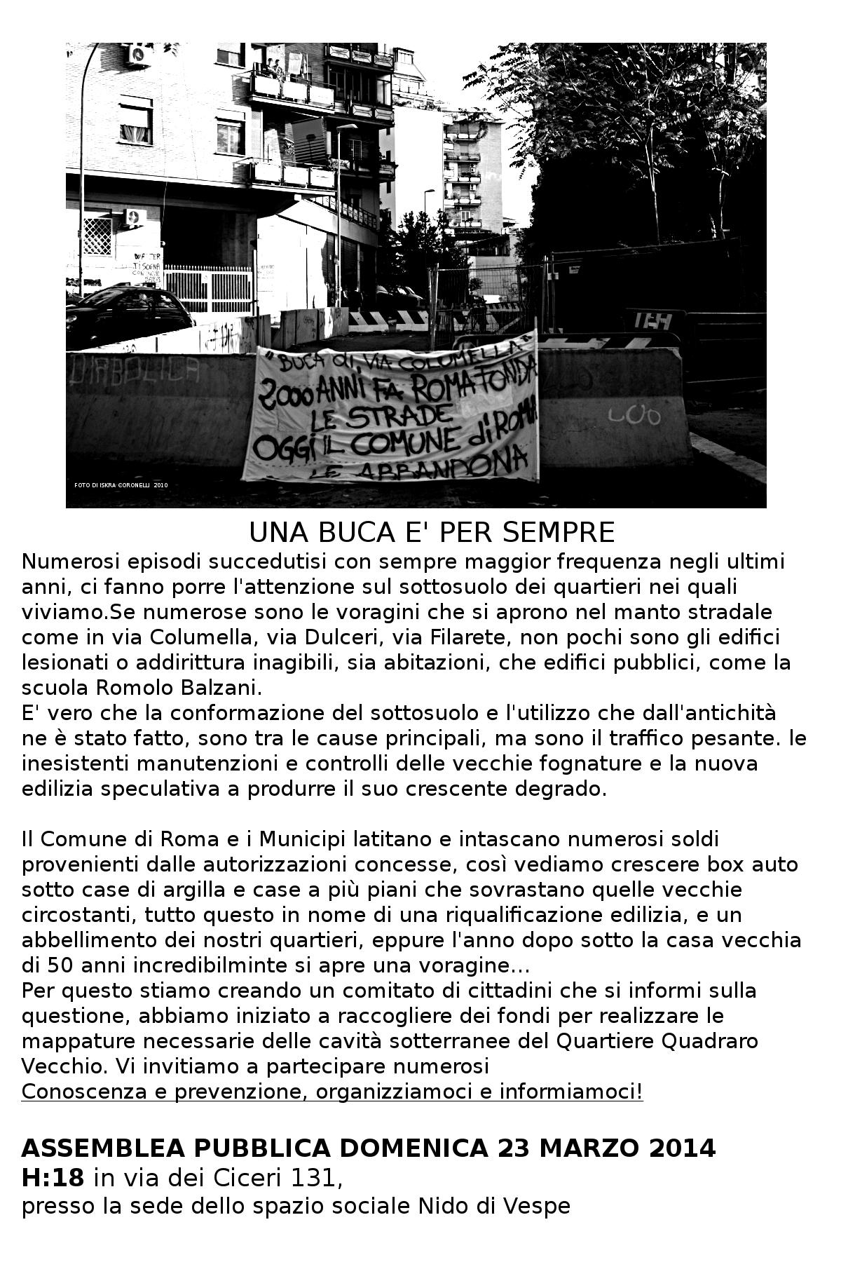 3- Volantino Buca versione aggiornata raccolta fondi